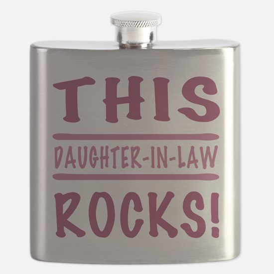 This Daughter-In-Law Rocks Flask