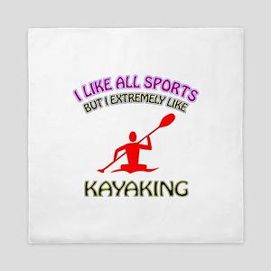 Kayaking Design Queen Duvet