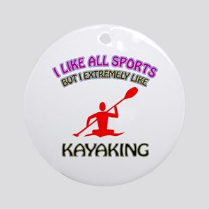 Kayaking Design Ornament (Round)