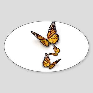 Monarch Butterlies Sticker (Oval)