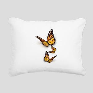 Monarch Butterlies Rectangular Canvas Pillow