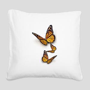 Monarch Butterlies Square Canvas Pillow