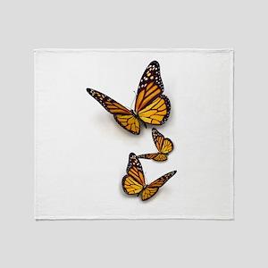 Monarch Butterlies Throw Blanket