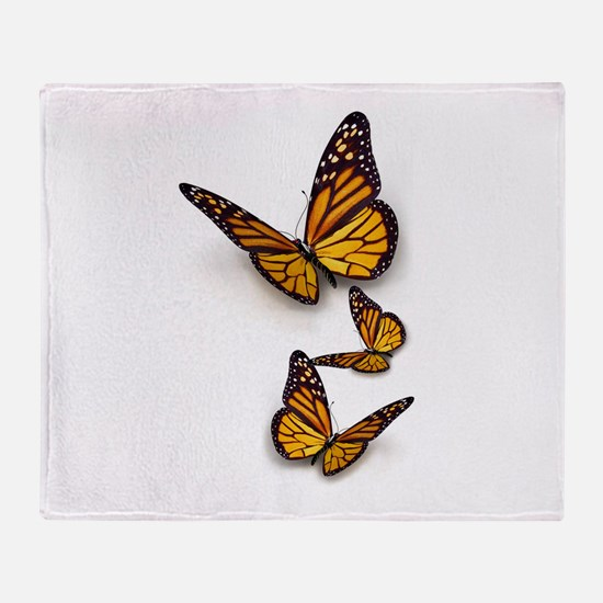 Monarch Butterlies Throw Blanket