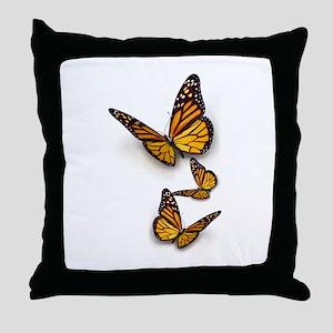 Monarch Butterlies Throw Pillow