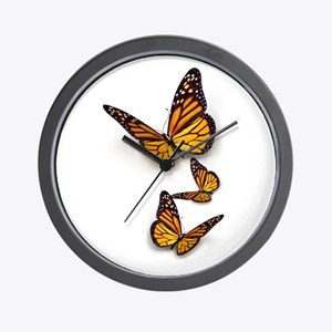 Monarch Butterlies Wall Clock
