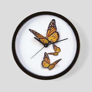 Monarch Butterlies Wall Clock