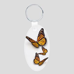 Monarch Butterlies Aluminum Oval Keychain