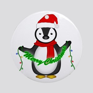 Penguin with lights Ornament (Round)
