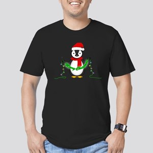 Penguin with lights Men's Fitted T-Shirt (dark)