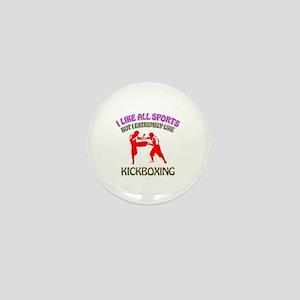 Kickboxing Design Mini Button