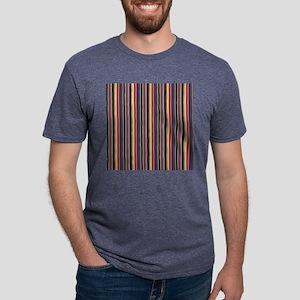 colorful striped lines vint Mens Tri-blend T-Shirt