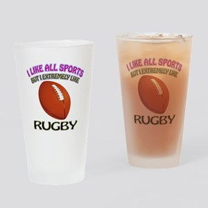 Rugby Design Drinking Glass