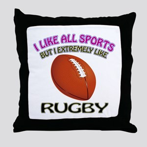 Rugby Design Throw Pillow