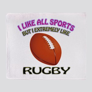 Rugby Design Throw Blanket