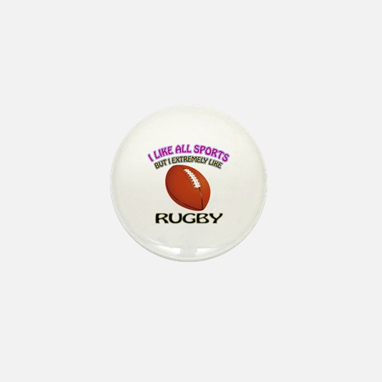 Rugby Design Mini Button