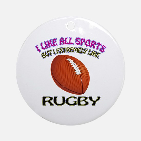 Rugby Design Ornament (Round)