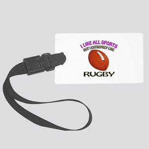 Rugby Design Large Luggage Tag