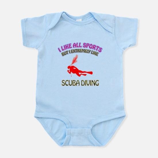 Scuba Diving Design Infant Bodysuit