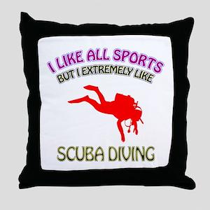 Scuba Diving Design Throw Pillow
