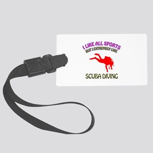 Scuba Diving Design Large Luggage Tag