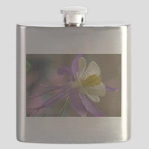 Purple and White Columbine Flask