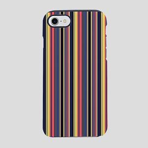 colorful striped lines vintage iPhone 7 Tough Case