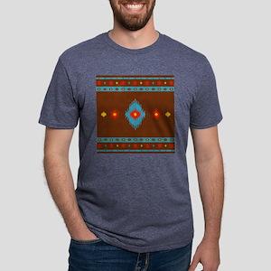 Native American Indian geom Mens Tri-blend T-Shirt