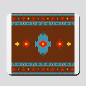 Native American Indian geometric vintage Mousepad