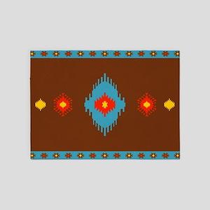 Native American Indian geometric vi 5'x7'Area Rug
