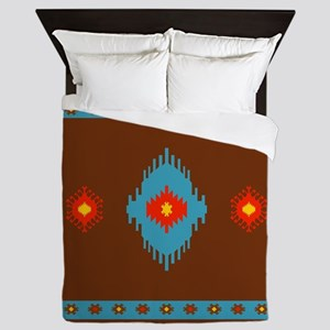 Native American Indian geometric vinta Queen Duvet