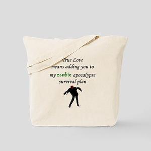 True Love Zombie Tote Bag