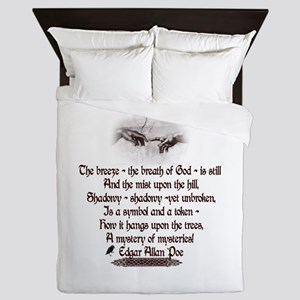 Edgar Allan Poe Breath Queen Duvet