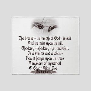 Edgar Allan Poe Breath Throw Blanket