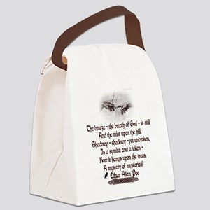 Edgar Allan Poe Breath Canvas Lunch Bag