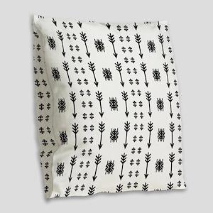 Native American Indian vintage Burlap Throw Pillow