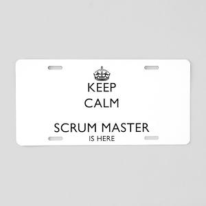 Calm Scrum master Aluminum License Plate
