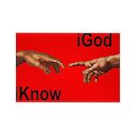 iGod Red Rectangle Magnet (10 pack)