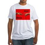 iGod Red Fitted T-Shirt