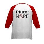 Pluto vs. IAU Two Sided Kids Baseball Jersey