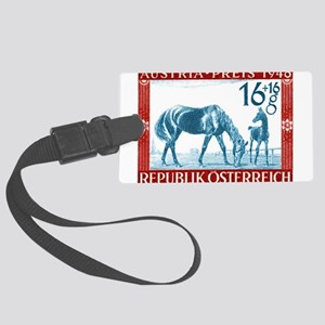 1946 Austria Racehorse And Foal Postage Stamp Larg