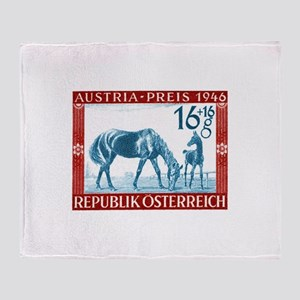 1946 Austria Racehorse And Foal Postage Stamp Sta