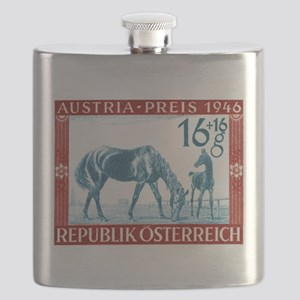 1946 Austria Racehorse And Foal Postage Stamp Flas