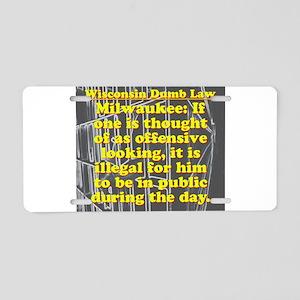Wisconsin Dumb Law 009 Aluminum License Plate