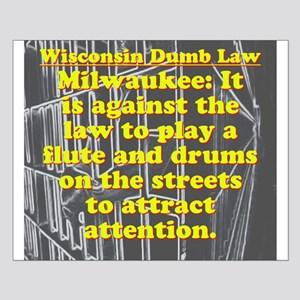 Wisconsin Dumb Law 008 Small Poster