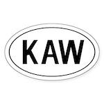 KAW Oval Sticker