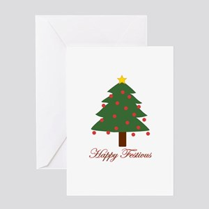 merryhappy FESTIVUS™ wht Greeting Cards