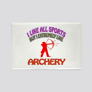 Archery Design Rectangle Magnet