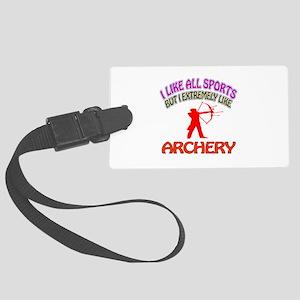 Archery Design Large Luggage Tag