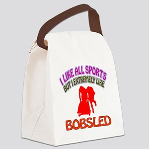 Bobsled Design Canvas Lunch Bag